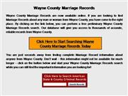 Wayne County Marriage Records