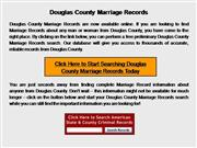 Douglas County Marriage Records