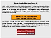 Duval County Marriage Records