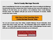 Harris County Marriage Records
