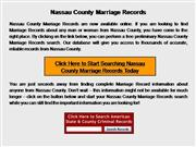 Nassau County Marriage Records