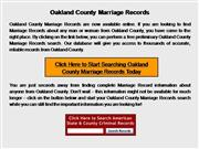 Oakland County Marriage Records