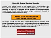 Riverside County Marriage Records