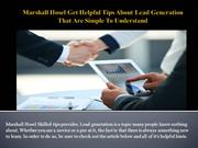 Marshall Hosel Get Helpful Tips About Lead Generation That Are Simple