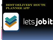 Best Delivery Route Planner App