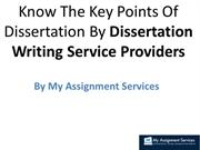 Key Points Of Dissertation By Dissertation Writing Service Providers