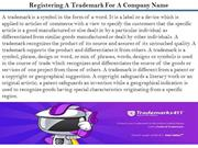 Registering A Trademark For A Company Name