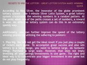 Secrets to Win the Lottery - Great Lottery