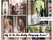 Why Do You Hire Wedding Photography Service