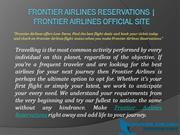 Frontier Airlines Reservations - Frontier Airlines Official Site
