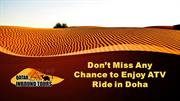 Don't Miss Any Chance to Enjoy ATV Ride in Doha