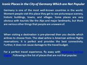 Iconic Places in the City of Germany Which are Not Popular