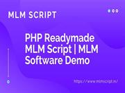 MLM Script - PHP Readymade MLM Script - MLM Software Demo