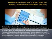Donnette Dawn Thomas How To Make Friends And Influence Customers With