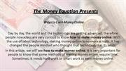 How to earn money online? Latest tips and tricks | The money equation