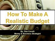 How To Make A Realistic Budget