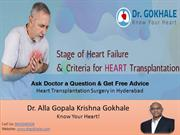 Stages of Heart Failure and Criteria for Heart Transplantation