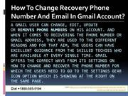 How To Change Recovery Phone Number And Email For The Gmail Account?
