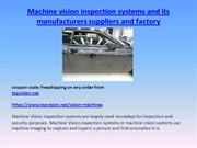 Automated Vision Inspection Machines