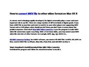 Mac HD MKV converter convert MKV on Mac