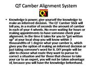 QT Camber Alignment System