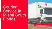 Cargo Delivery Service, Cargo Freight Miami -Best Way Courier