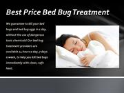 Heat treatment for most effective bed bug treatment