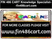 FIN 486 CART Knowledge Specialist--fin486cart.com