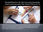 Marshall Hosel For The Most Up-to-date Knowledge About Lead Generation