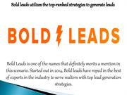 Bold leads utilizes the top-ranked strategies to generate leads
