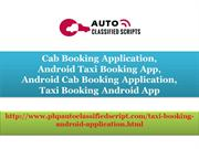 Cab Booking Application, Android Taxi Booking App, Android Cab Booking