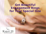 Get Beautiful Engagement Rings for Your Special One