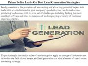 Prime Seller Leads On Best Lead Generation Strategies