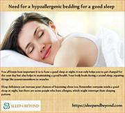 Need for a hypoallergenic bedding for a sleep
