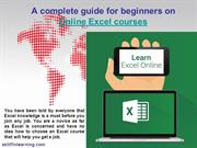 A complete guide for beginners on Online Excel courses