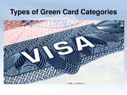 Types of Green Card Categories