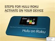 steps for hulu roku activate on your device