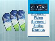 Custom Feather Flag Banners | Flying Banners | Zodiac Displays