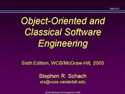 Object-Oriented and Software Engineering