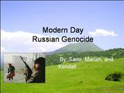 Genocide project sami kendall mariah