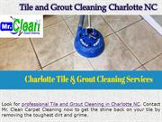 Charlotte Tile & Grout Cleaning Services