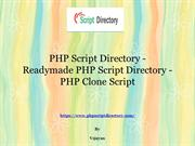 PHP Script Directory, Readymade PHP Script Directory