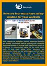 Here are four must-have safety solution for your worksite