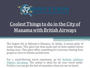 Coolest Things to do in the City of Manama with British Airways