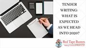 Tender Writing- What is expected as we head into 2020?