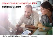 DOs and DONTs of Financial Planning