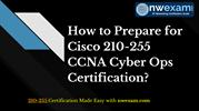How to Start Preparation for Cisco 210-255 Certification Exam