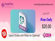 Export Order by Admin in Purpletree Opencart Multivendor extension