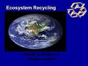 Ecosystem Recycling