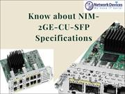 Know about NIM-2GE-CU-SFP Specifications